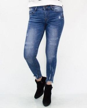 Джинсы женские MS голубые 315