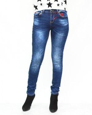 Джинсы женские MS синие теплые 5857