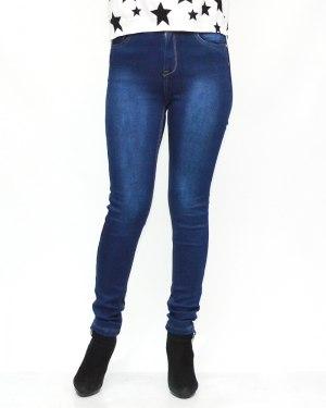 Джинсы женские MS синие теплые 6031