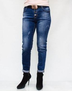 Джинсы женские RELUCKY синие с ремнем 165