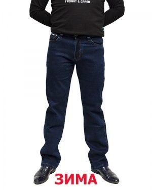 Джинсы мужские 839 синие теплые 608-12