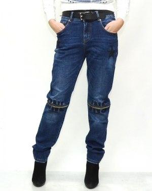 Джинсы женские DSQUARED синие с ремнем 5076