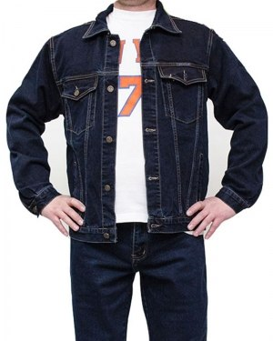 Куртка джинсовая мужская DECANT синяя 2100