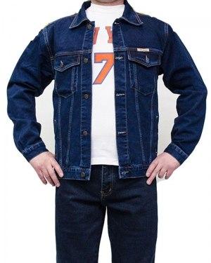 Куртка джинсовая мужская DECANT ярко-синяя