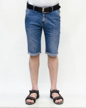 Шорты мужские RESALSA голубые с ремнем 6058
