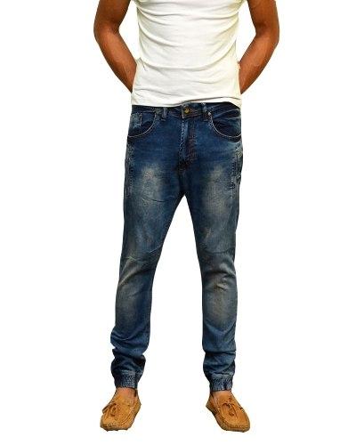 Джинсы мужские STRAVT синие стрейч спорт 374