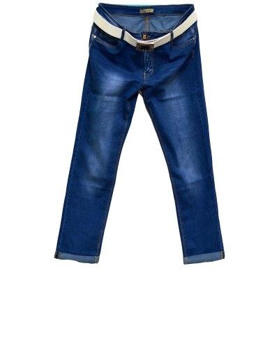 Джинсы женские MOON GIRL голубые стрейч с ремнем 6718-2