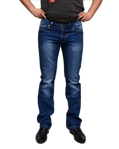 Джинсы мужские LEVRICTON голубые стрейч 71602