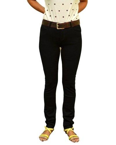 Джинсы женские VANVER черные стрейч с ремнем 8626