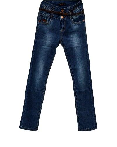 Джинсы женские PTA синие стрейч с ремнем 659-3