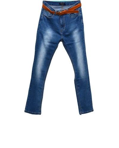Джинсы женские PTA голубые стрейч с ремнем 921