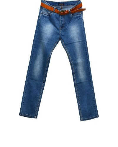Джинсы женские PTA голубые стрейч с ремнем 822