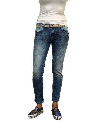 Джинсы женские DESPERADO синие стрейч с ремнем 651