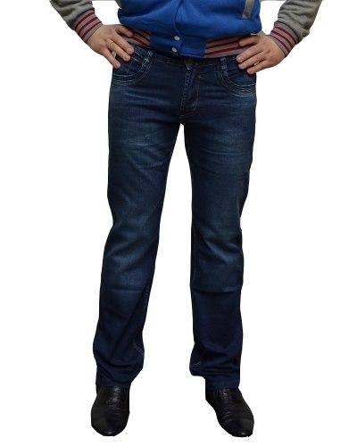 Джинсы мужские FANGSIDA синие стрейч 1013