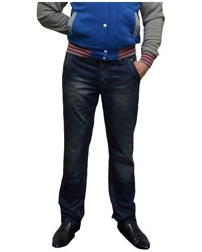 Джинсы мужские FANGSIDA синие стрейч 0057