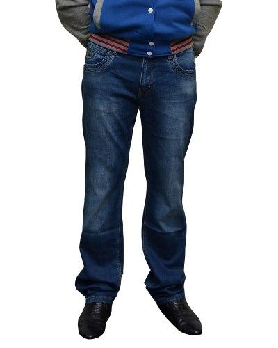 Джинсы мужские FANGSIDA синие стрейч 0055