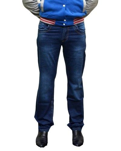Джинсы мужские FANGSIDA синие стрейч 1017