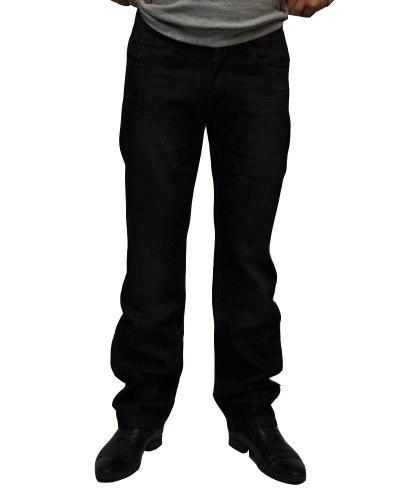 Джинсы мужские FANGSIDA черные теплые 1033