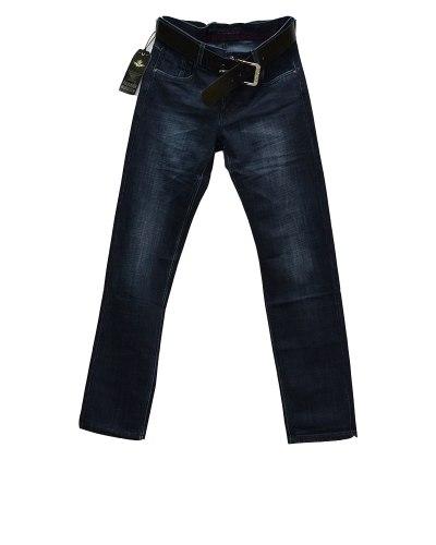 Джинсы мужские FANGSIDA синие с ремнем 0234
