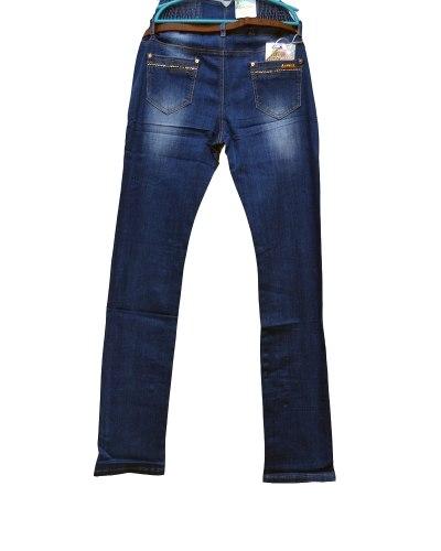 Джинсы женские ZYH синие с ремнем 89036