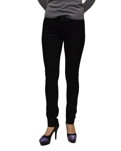 Джинсы женские VANVER черные с ремнем 8728