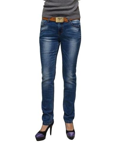 Джинсы женские VANVER голубые с ремнем 8750