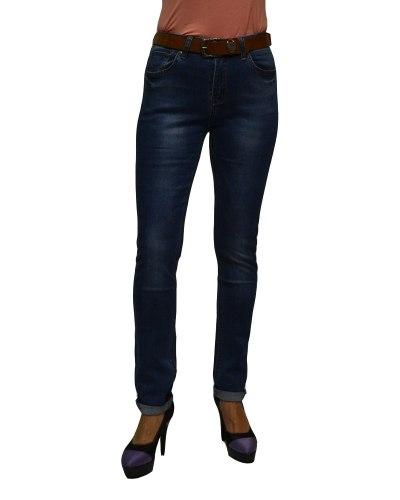 Джинсы женские VANVER синие стрейч с ремнем 8790