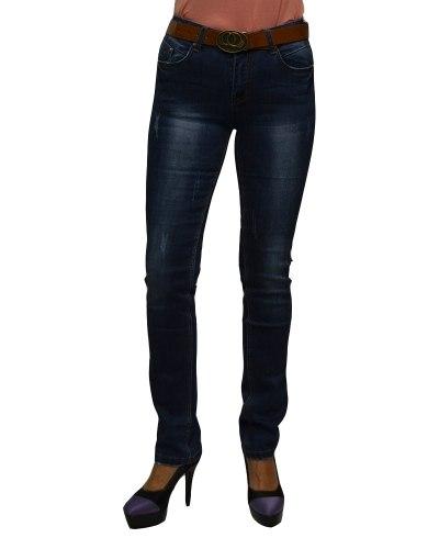 Джинсы женские VANVER синие стрейч с ремнем 8700