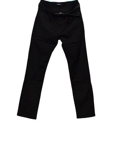 Джинсы женские VANVER черные с ремнем 8729
