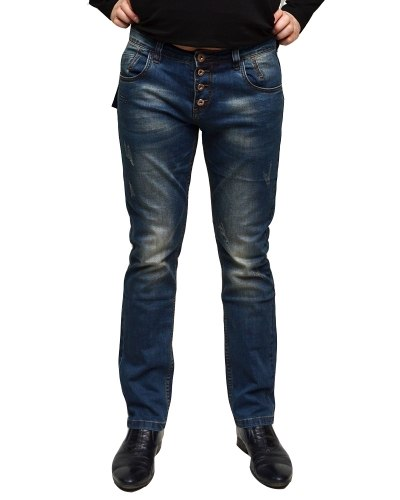 Джинсы мужские VS синие стрейч 9105