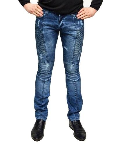 Джинсы мужские MARIO синие стрейч 500