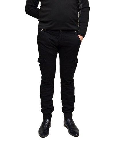 Джинсы мужские MARIO черные стрейч 0388