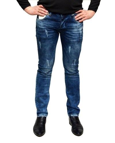 Джинсы мужские MARIO синие стрейч 1503