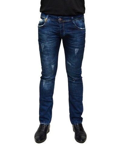 Джинсы мужские MARIO синие стрейч 1377