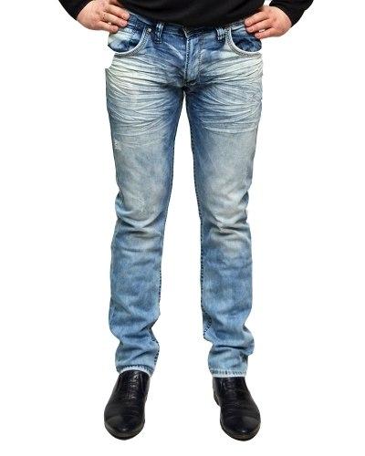 Джинсы мужские MARIO синие стрейч 0407