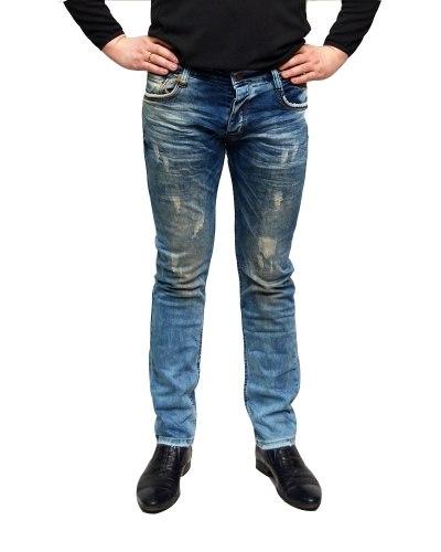 Джинсы мужские MARIO синие стрейч 1461