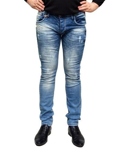 Джинсы мужские MARIO синие стрейч 0254