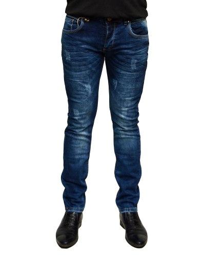 Джинсы мужские MARIO синие стрейч 1069