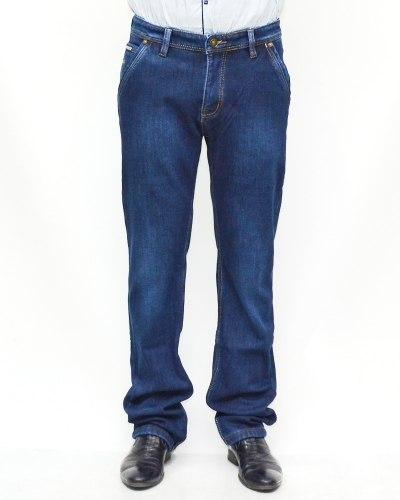 Джинсы мужские AWIVGOSS синие теплые 6058