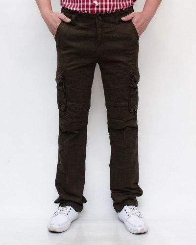 Джинсы мужские B&P коричневые на резинке 8082-21