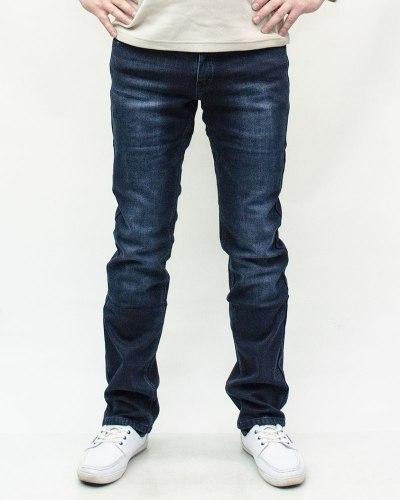 Джинсы мужские FANGSIDA синие зимние 643