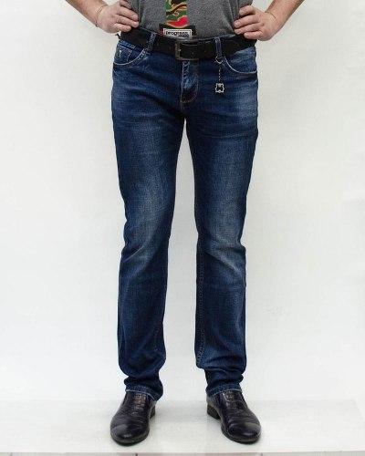 Джинсы мужские MAX TAO синие с ремнем 2008