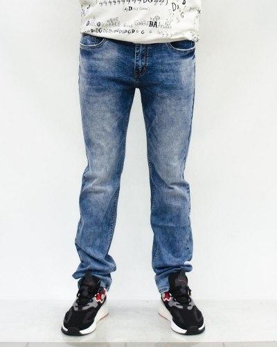 Джинсы мужские RAMSDEN голубые с ремнем 8288