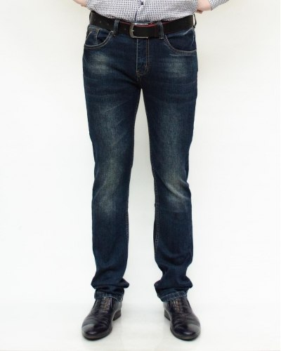 Джинсы мужские RAMSDEN синие с ремнем 8190