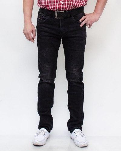 Джинсы мужские RESALSA черные с ремнем 9334