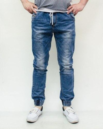 Джинсы мужские RESALSA синие с ремнем 2106-1