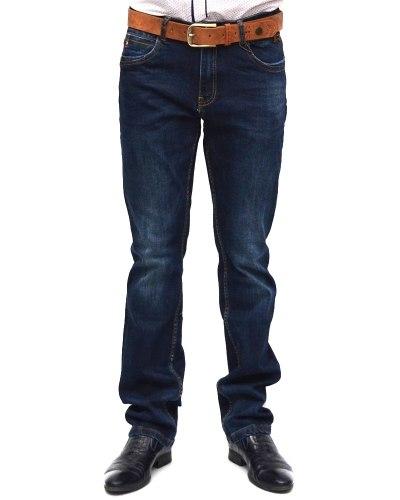 Джинсы мужские RESALSA синие с ремнем 6685