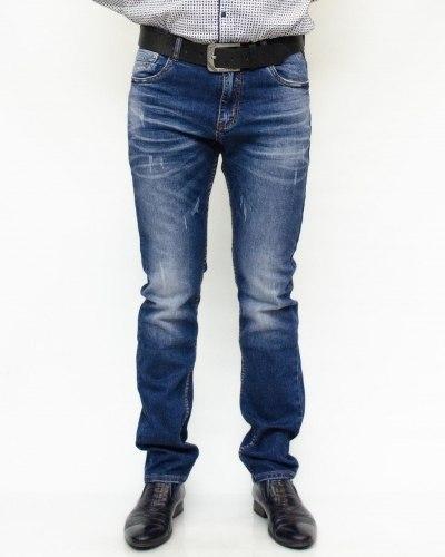 Джинсы мужские RESALSA синие с ремнем 8057