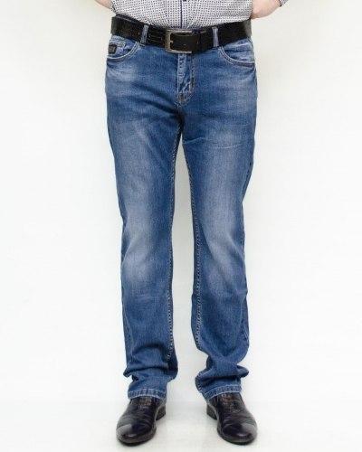 Джинсы мужские RESALSA синие с ремнем 8084