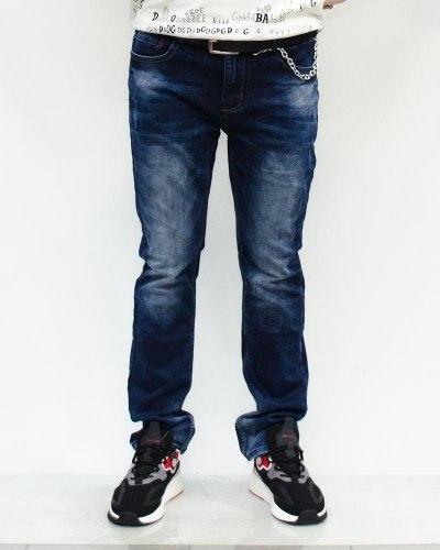Джинсы мужские RITTER синие с ремнем 50025